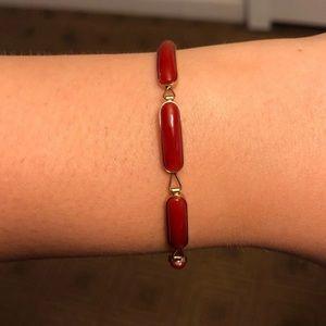 18k vintage coral bracelet